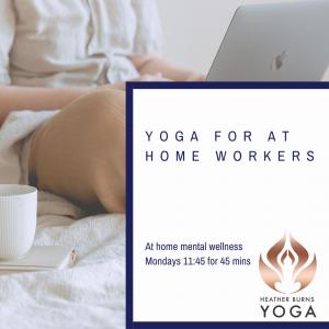 yoga at desk